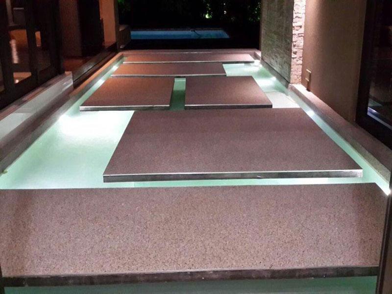 Vinyl Floor Inlays : Quartz inlay installations stone floors outside